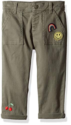 Pant Woven Crop Cotton (Gymboree Girls' Big Woven Crop Pant, Olive Green, 2T)