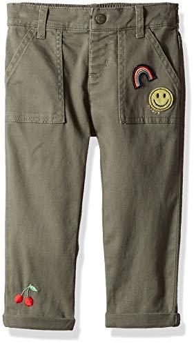 Crop Cotton Woven Pant (Gymboree Girls' Big Woven Crop Pant, Olive Green, 2T)