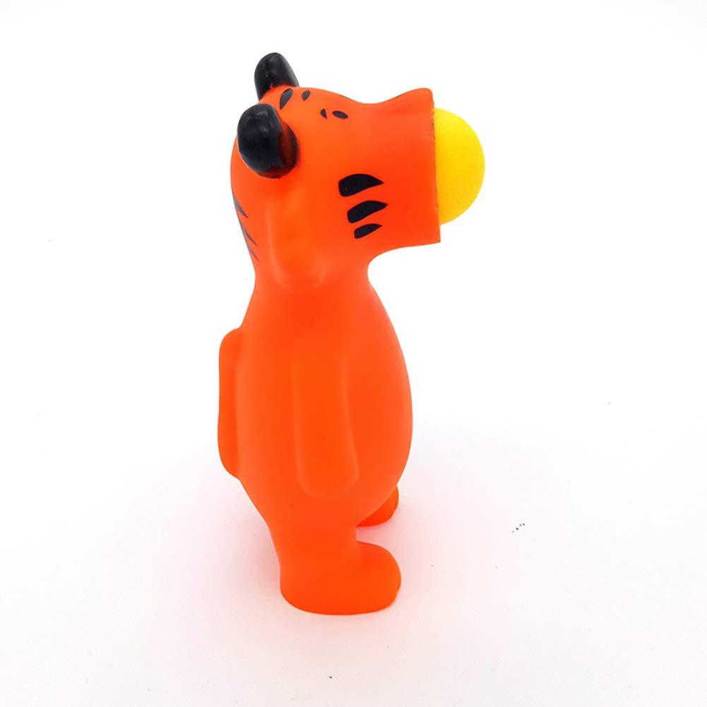 1 stü cke Kreative Spray Spit Ball Tier Puppe Spielzeug Tong Kunststoff Tier Stressabbau Spielzeug (Zufä llige Farbe) Beito
