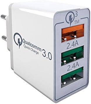 Quick Charge 3.0 Cargador USB de Pared con 30W Qualcomm QC 3.0 Carga Rapida por Sky Castle Para teléfonos inteligentes Samsung Galaxy S8 / S7 / S6 / ...