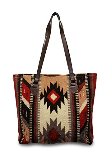 Handmade Native American Indian Horse - Southwest Boutique Wool Tote Purse Bag Native American Western Style Handwoven (Tempe)
