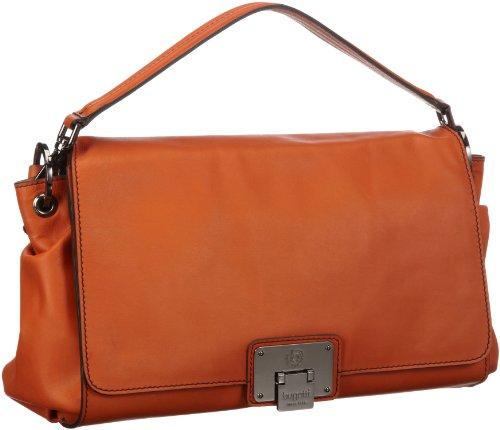 Bugatti Bags Borsa Messenger Marlene, nero – Schwarz (schwarz 01), 496697 arancione