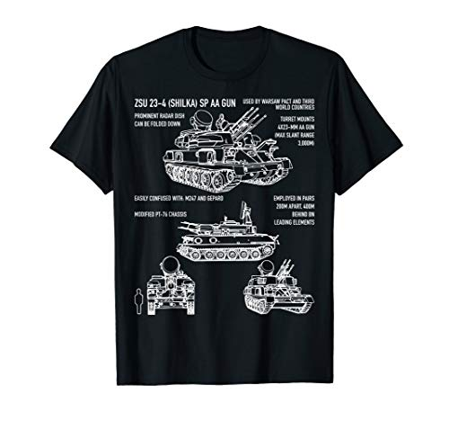 ZSU-23-4 Shilka Russian Anti-Aircraft Gun T-Shirt -