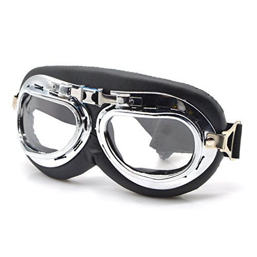 Clear-Motorcycle-Riding-GogglesFreehawk-Outdoor-Bike-Bicycle-Cycling-GooglesOutside-Tactical-GooglesDust-Proof-Windproof-Protective-GooglesAnti-UV-Adjustable-Cycling-Googles-wPC-strengthened-Lens