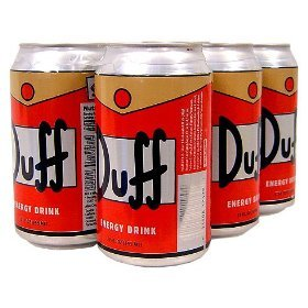 The Simpsons Duff Energy Drink Six Pack (Simpsons Duff Beer)