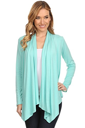 (Casual Long Sleeve Drape Front Open Jacket Cardigan/Made in USA Mint 3XL)