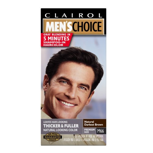 Clairol hommes Choice couleur, M66 naturel Darkest Brown (pack de 3)