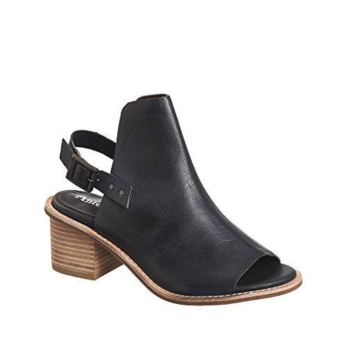 Antelope Women's 511 Black Leather Buckle Wrap Sandals 36