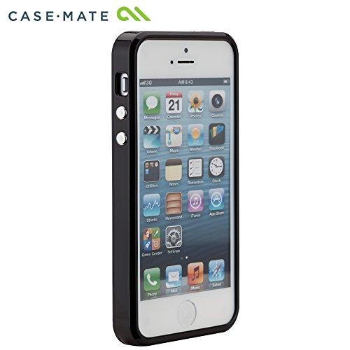 Case-Mate CM026456 Premium Refined-Kollektion gebürstetem Aluminium Schutzhülle für Apple iPhone 5/5s schwarz