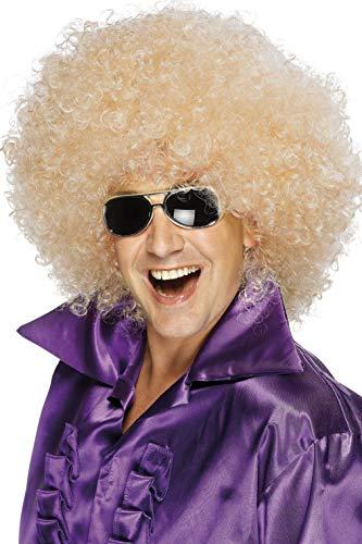 Smiffys Unisex Mega-Huge Blonde Afro Wig, One Size, 42035