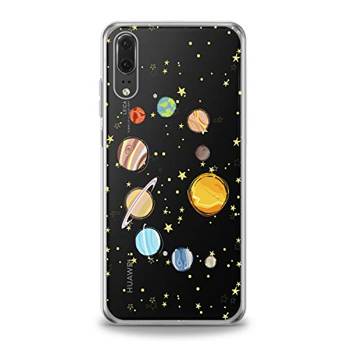 Lex Altern TPU Case for Huawei P30 Pro P20 Lite P10 P9 Plus Mate 20 Parade of Planets Gift Earth Flexible Design Print Soft Solar System Cover Smooth Universe Slim fit Stars Clear Lightweight Sun]()