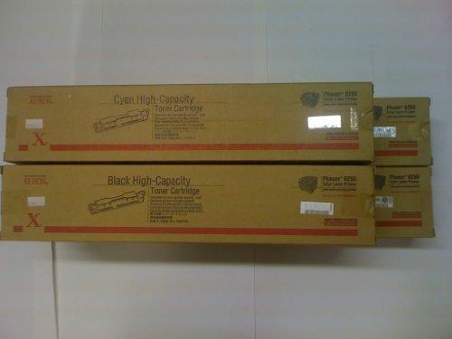 Xerox 106R00672, 106R00673, 106R00674, 106R00675 Color Toner Set for Xerox Phaser 6250 series printers