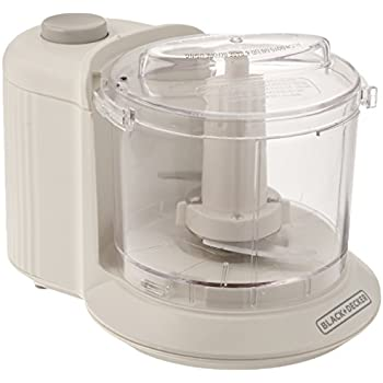 BLACK+DECKER 1.5-Cup Electric Food Chopper, White, HC306C