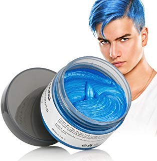 Hair Coloring Wax, Blue Disposable MOFAJANG Instant Matte Hairstyle Mud Cream Hair Pomades for Kids Men Women to Cosplay Nightclub Masquerade Transformation (Best Colors To Dye Your Hair)
