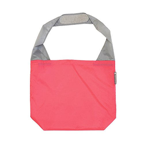 FLIP AND TUMBLE – Premium Reusable Grocery Bag - perfect Shopping Bag, Beach Bag, Travel Bag, Coral