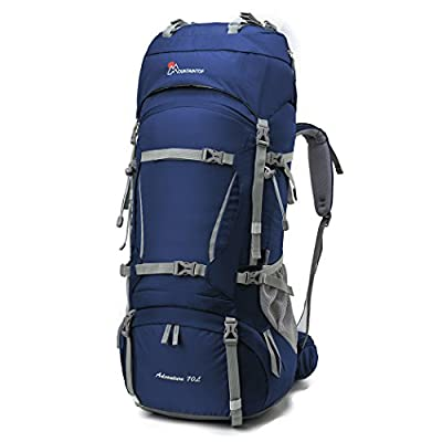 Mountaintop 70L+10L Outdoor Sport Water-resistant Internal Frame Backpack Hiking Backpack Backpacking Trekking Bag with Rain Cover for Climbing,camping,hiking,Travel and Mountaineering-5805II