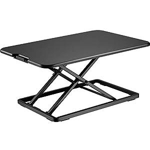 BONTEC Sit- Stand Desk Converter, Height Adjustable Super Sturdy Office Workstation with 65x47cm Platform, Ergonomic X…