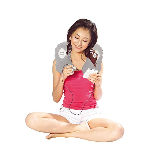 Fossfill Pillow - Comfspo Foldable Air Filled U Shape Travel Inflatable Music Pillows