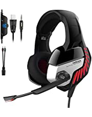 ONIKUMA K5 Pro 7.1 Virtual Surround Sound & Noise Cancelling Gaming Headset For Xbox One/PC/Mac/ PS4/ Table/Phone - RED