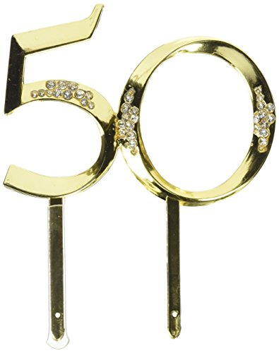 Wilton Gold 50th Anniversary Pick (Anniversary Centerpiece 50th)
