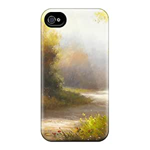 Tpu Case For Iphone 4/4s With Painting Autumn