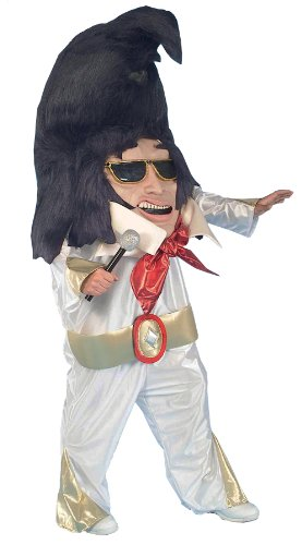 Rock N Roll King Elvis Parade Pleaser Mascot Funny Theme Halloween Costume