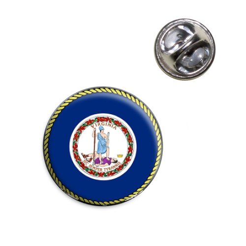 Virginia Flag Lapel Pin - Virginia State Flag Lapel Hat Tie Pin Tack