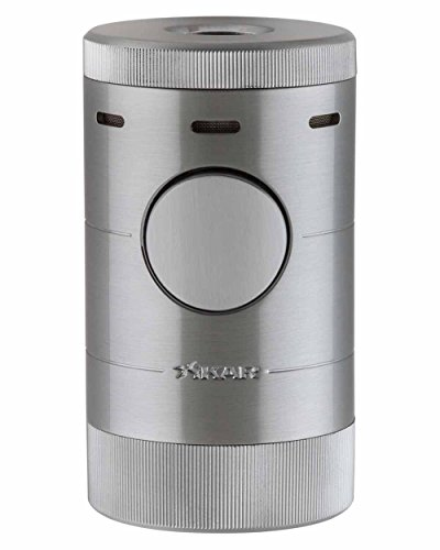 XiKAR Volta Quad Flame Tabletop Cigar Lighter in an Attractive Gift Box Warranty Silver