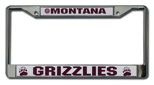 Rico Industries NCAA Montana Grizzlies Standard Chrome License Plate Frame