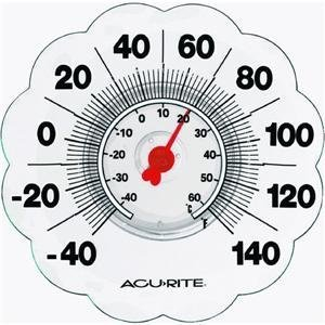 Chaney Instrument 00465 Clear Suction Outdoor Wall Thermometer