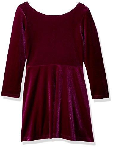 Crazy 8 Girls' Little Velvet A-line Dress, Brilliant Magenta, S ()