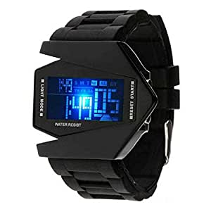 LED multifunction silica gel electronic watch