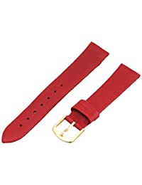 Hadley-Roma Women's LSL832RQ-160 16mm Red Genuine Lambskin Leather WatchStrap