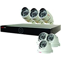 REVO America RG81D3CB3C-1T Genesis HD 8 Ch. 1TB NVR Surveillance System with 6 1080p 2MP Cameras (White)
