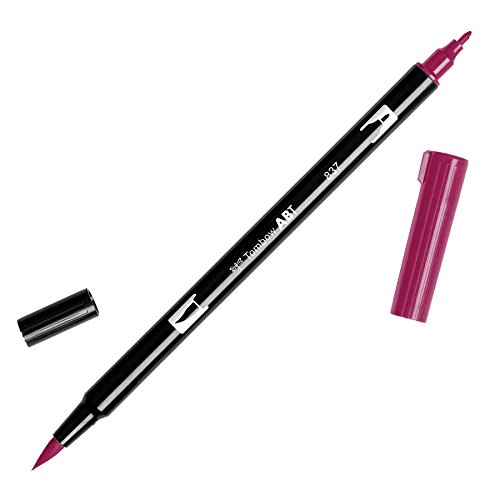 Tombow Dual Brush Pen Art Marker, 837 - Wine Red, 1-Pack (Red Wine Art compare prices)