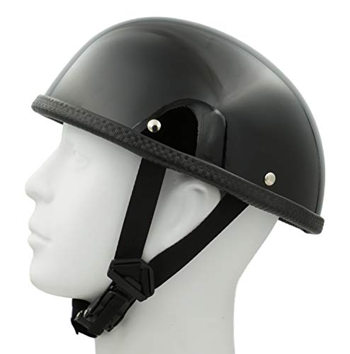 - Hot Rides Classic Chopper Biker ATV Helmet Novelty (Non Dot) For Cruiser Harley Scooter Turtle OSFM Gloss Black
