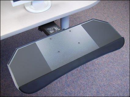 All Keyboard Platform In One (Systematix DPPLF17T 27 in. Slimline All-in-One Phenolic Keyboard Platform & Lever Free Arm)