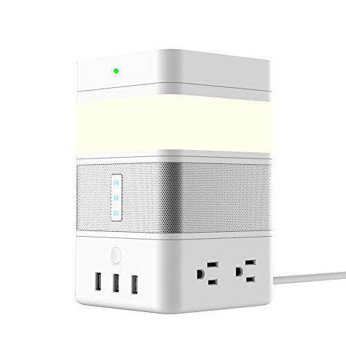 AvatarControls FreeCube,Smart Home Modular Kit with POGO Pin Connected 4 Modules,Bluetooth Speaker,LED Gesture Sensor Light,Wireless Charger,Power Strip with 4 AC/3 USB Port by Avatar Controls