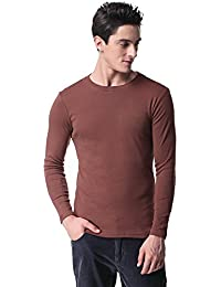 T-09 Mens Long Sleeve T Shirt Casual Skinny Fit Cotton Crew Neck
