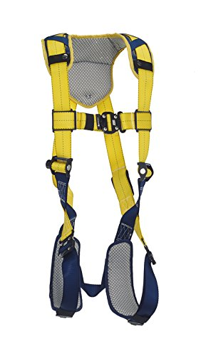 (3M DBI-SALA DeltaComfort 1100936 Fall Arrest Kit with Back D-Ring, Quick Connect Buckle Leg/Chest Straps and Comfort Padding, Medium, Navy/Yellow )