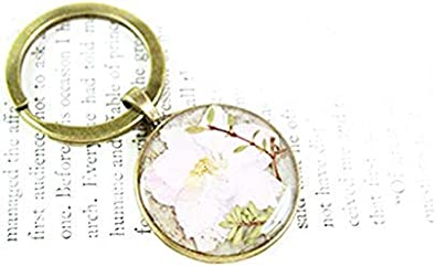 Herbal Resin Keychain floral nature keepsake real dried flowers herbs travel art Dried Flower Keychain Botanical gifts for her