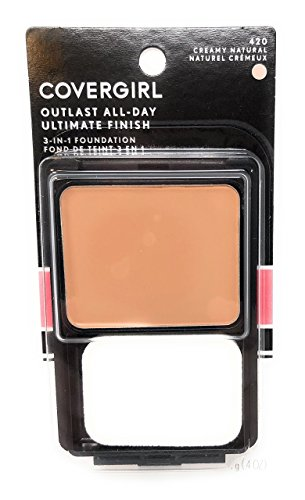 CoverGirl Ultimate Finish Liquid Powder Make Up Creamy Natural(N) 420, 0.4-Ounce Compact (Pack of 2)
