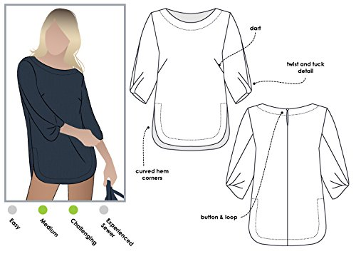 Style Arc Sewing Pattern - Sadie Tunic (Sizes 04-16) - Click for Other Sizes Available