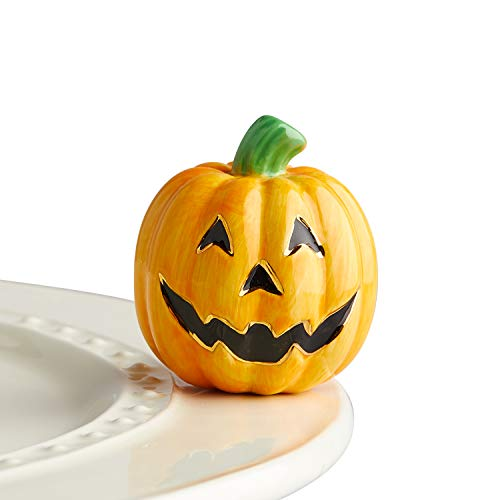 Nora Fleming Hand-Painted Mini: Carved Cutie (Jack O' Lantern) -