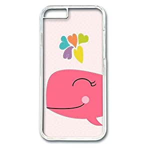 Iphone 6 (4.7Inch) PC Hard Shell Case Happy Whale Transparent Skin by Sallylotus by mcsharks