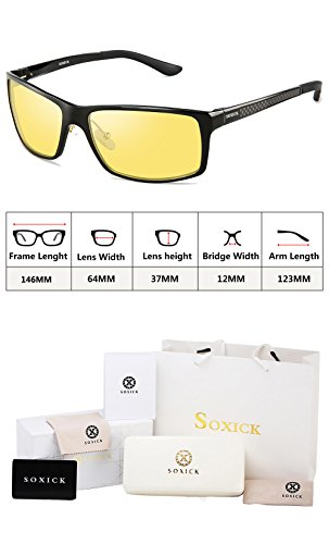5788b5df44 SOXICK Night Vision Glasses for Driving - Adjustable Polarized HD Driver  Glasses For Men Women
