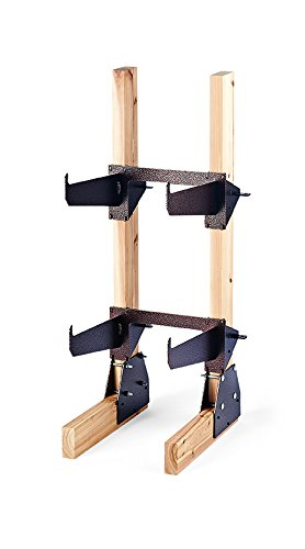 Design Specialties, High and Dry Log Stacker Junior with 2X4 Supports, Firewood Log Rack, LS301SM, Copper Vein, Small Copper Vein Powder Coat
