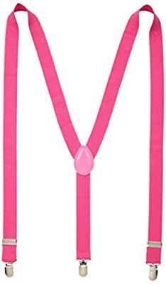 Suspenders for Men, Women and Teens. Fashionable, Functional, 1-inch Wide Designer Solid Color Y-Back Clip Suspender by Alex Palaus Collection (TM)