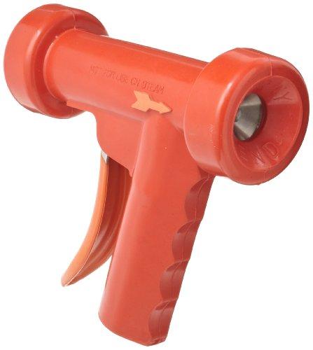 SuperKlean 150S-R Pistol Grip Spray Nozzle, Stainless Steel, 1/2 NPT, Red by SuperKlean