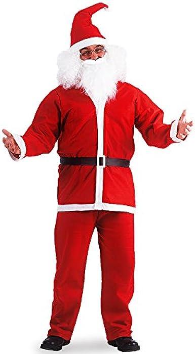 Abito Costume Vestito da Babbo Natale Uomo Rosso economico con cappello adulto